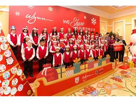 Wynn presents Christmas gifts and handmade greeting cards to Caritas Macau