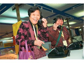 The elderly enjoy a series of fun and educational activities while having a good laugh
