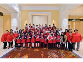 Tung Sing Tong primary students pose for a group picture, proud of a job well done