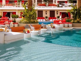 Encore Beach Club Water Couch