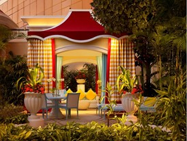 Wynn Palace Pool Cabana by Barbara kraft
