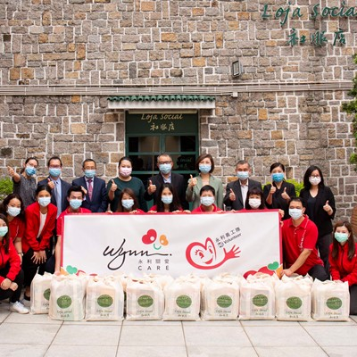 Wynn Supports Macau Holy House of Mercy's Welfare Shop  for the Eighth Consecutive Year Through Donation of MOP300,000