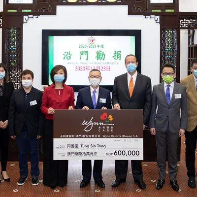 Wynn Supports Tung Sin Tong for the Fifteenth Consecutive Year
