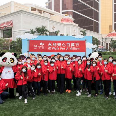 "Wynn team members actively participate in the ""Walk for A Million"""