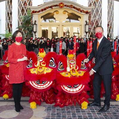 Wynn Welcomes the Year of the Ox with Auspicious Lion Dance Performances