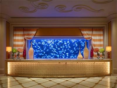 Encore Tower Lobby - Moon Jellyfish Aquarium by Barbara Kraft