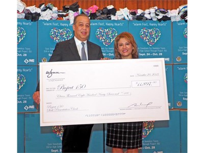 Wynn Las Vegas Outfits Local Students With Donation To Project 150