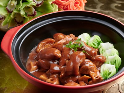 Stewed Pig's Knuckle with Lotus Root in Red Bean Curd Sauce – Wing Lei Palace