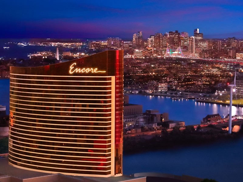 Encore Boston Harbor exterior aerial