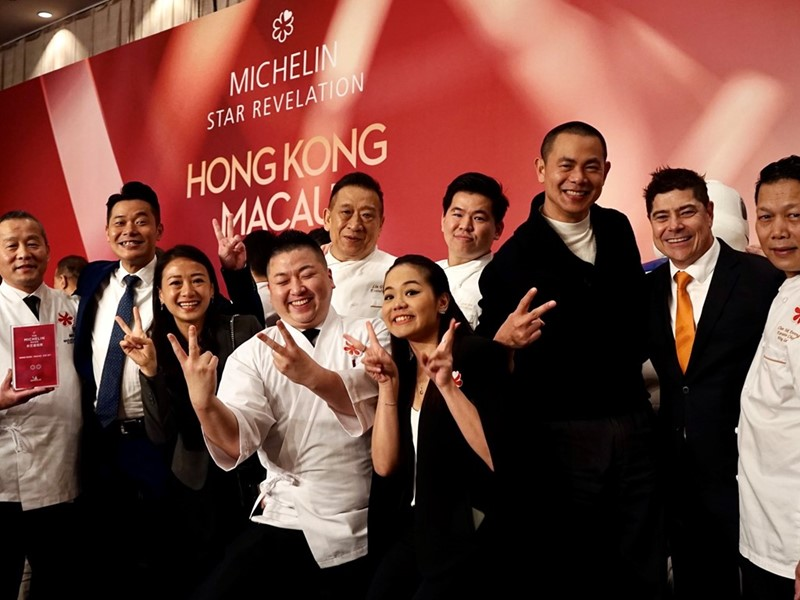 Wynn receives a total of eight Michelin stars from the Michelin Guide Hong Kong & Macau 2020