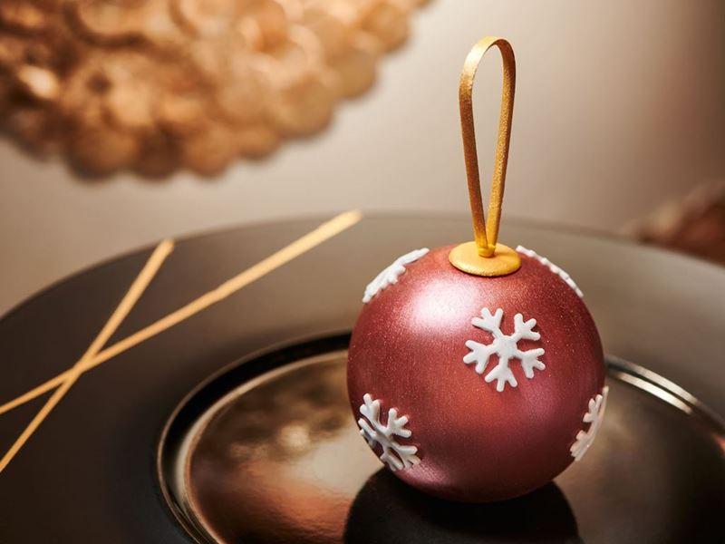 聖誕朱古力球伴薑餅雪糕