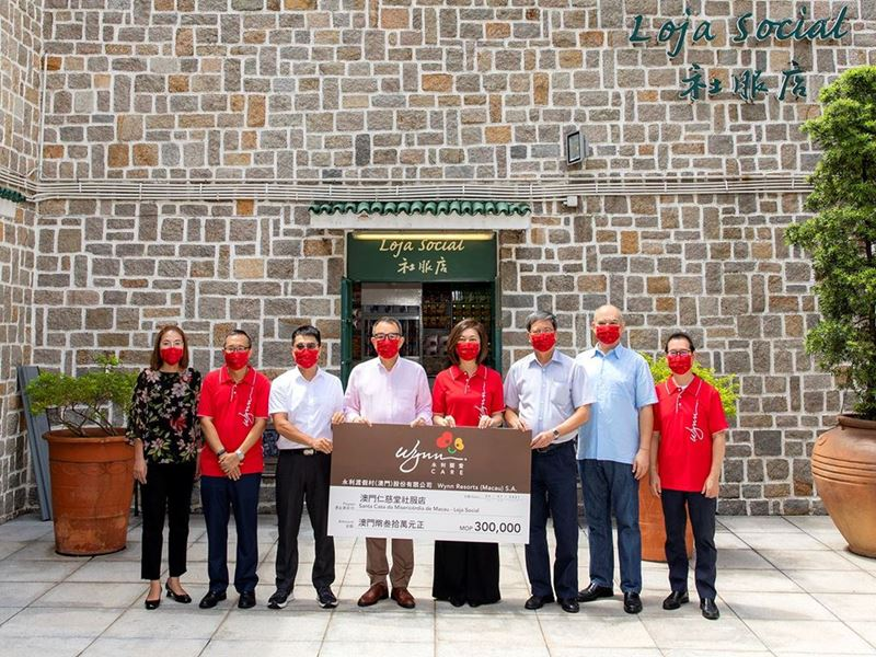 Wynn donates MOP300,000 to support the Welfare Shop Project of SCMM