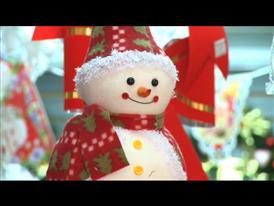 B-Roll of Christmas Lane in Yiwu, China