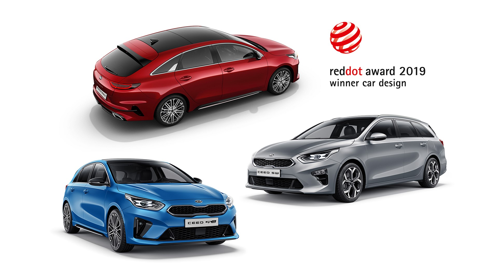2019 Red Dot Awards - Kia Ceed, Ceed Sportswagon and ProCeed