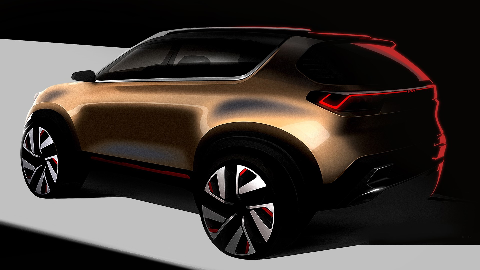 Kia Motors India shares a sneak peek of its compact SUV concept - Image 1