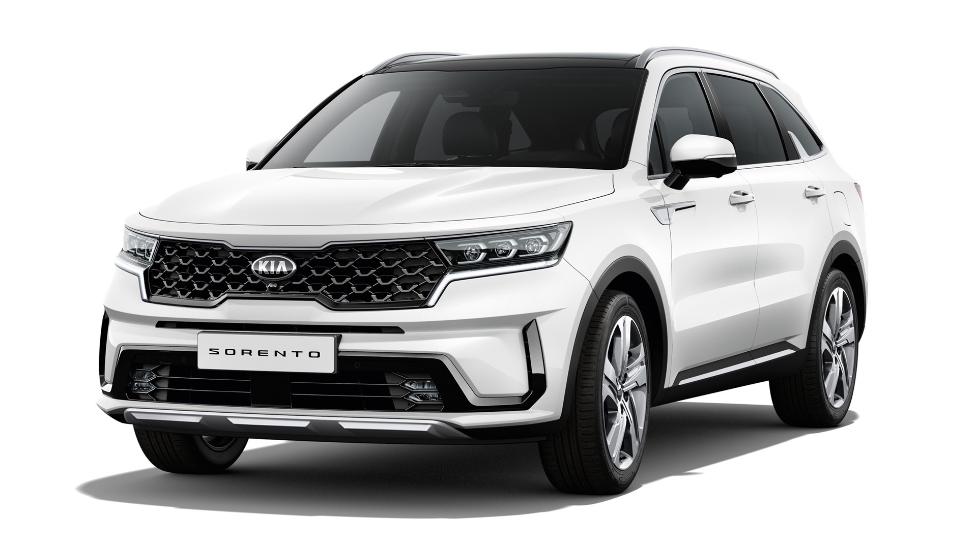 The new Kia Sorento - White Background - 3-4 Front