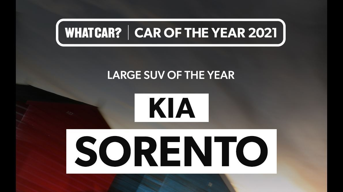 All-new Sorento wins 'Large SUV of the year' at 2021 What Car? Car Of The Year awards - Image 1
