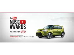 Nominations Announced for the YouTube Music Awards Presented by Kia - Voting Opens for Fans Around the World