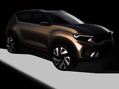 Kia Motors India shares a sneak peek of its compact SUV concept