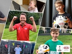 Kia Motors collects over 2,000 pairs of football boots via UEFA Europa League Trophy Tour with football legends, fans