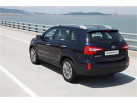 Upgraded Kia Sorento Driving (rear)