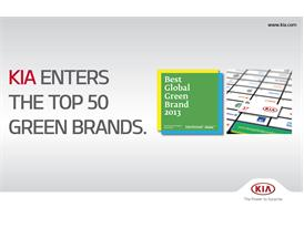 Kia Motors Best Global Green Brands 2013 (horizontal poster)