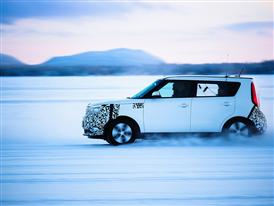 Kia Soul EV Winter Testing 1