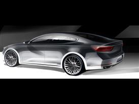 Next generation Kia Cadenza - Rear Quarter Rendering