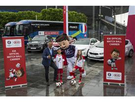 Kia Official Match Ball Carriers pose with Ruud Gullit, UEFA EURO 2016 Ambassador
