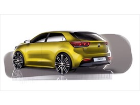 4th Generation Kia Rio - Exterior Rear Quarter Rendering