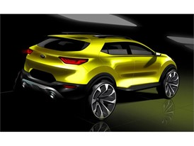 Kia Stonic Rear sketch