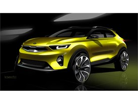 Kia Stonic Press Render Sketch