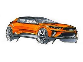 Kia Stonic Artistic Design Sketch
