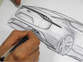Kia Stinger sketch