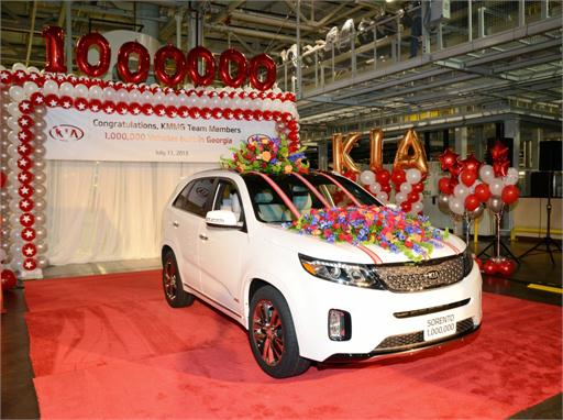 Kia Motors Manufacturing Georgia reaches one million U.S.-built vehicles milestone