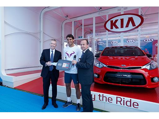 Craig Tiley CEO Tennis Australia_Rafael Nadal_Tony Barlow COO Kia Motors Australia