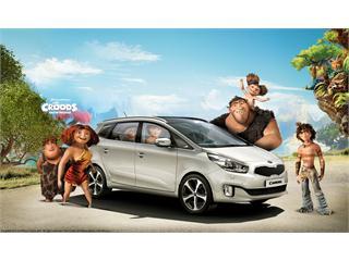 DreamWorks Animation's The Croods Hit the Road in Kia Motors' Stylishly New Kia Carens