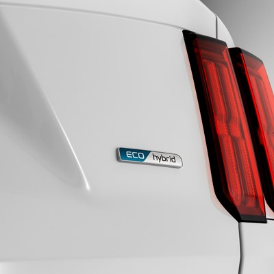 The new Kia Sorento - rear led lamps with Eco hybrib emblem