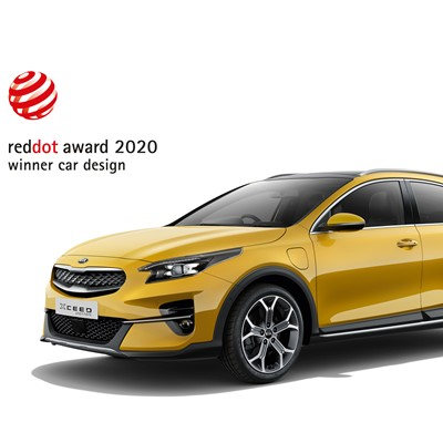 2020 Red Dot 'Product Design' award for Kia XCeed