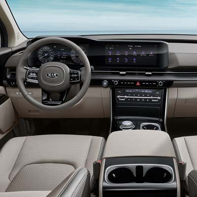 Futuristic and versatile interior for new Kia Carnival