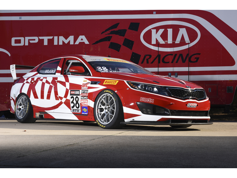 Kia at 2014 SEMA - Racing Optima