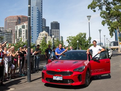 Kia's Stinger and SUVs delivered for Australian Open 2018