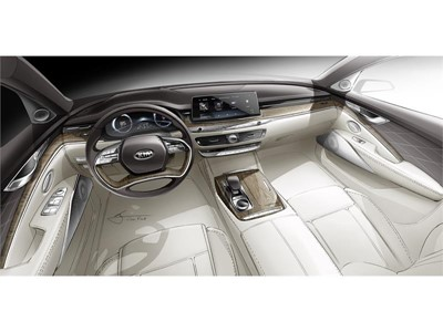 Elegant and Minimalist: Kia Hints at All-New K900 Cabin Design