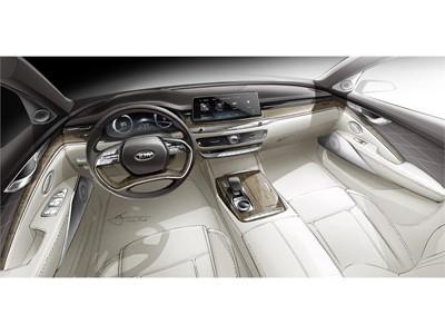 Elegant and Minimalist: Kia Hints at All-New K900 Cabin Design
