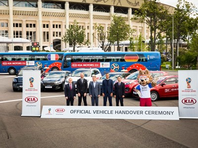 Kia gears up for 2018 FIFA World Cup Russia™ with vehicle handover, brings the tournament to more fo
