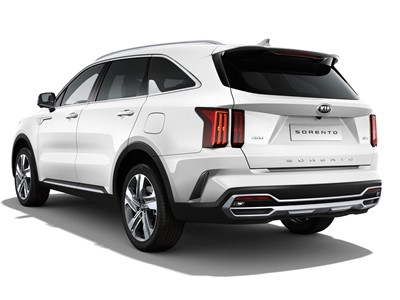 The new Kia Sorento - White Background - Rear