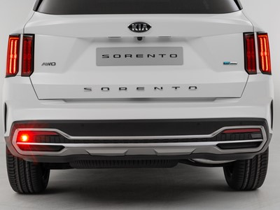 The new Kia Sorento - full rear bumper