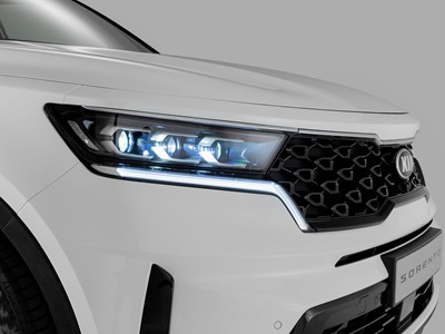The new Kia Sorento - Front grille with headlights