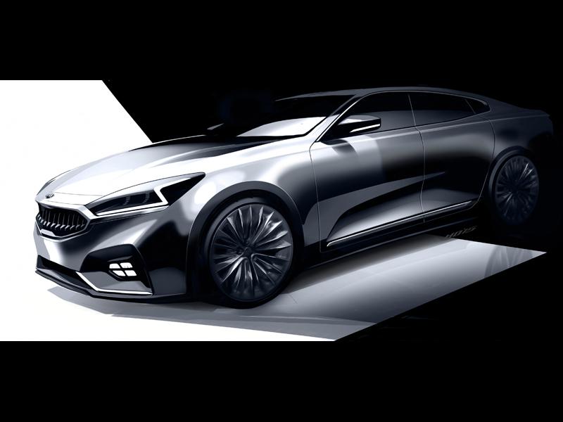 Next generation Kia Cadenza - Front Quarter Rendering