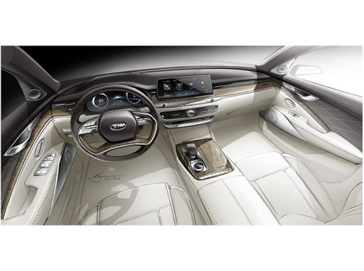 Kia All-New K900 Interior Rendering